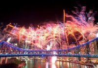 Bridge Fireworks Photo From Story Bridge Adventure Climb Site